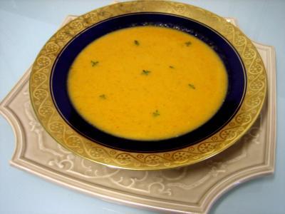 Image : Assiette de crème de cardon