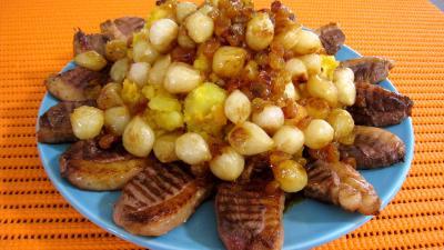 Potimarron et pommes de terre aux oignons confits - 8.2