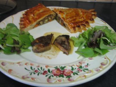Foie gras et son chausson aux cèpes et panais - 18.3