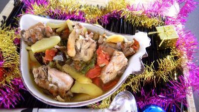 Image : Saladier de ragoût de lapin