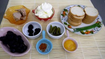 Ingrédients pour la recette : Canapés au thon