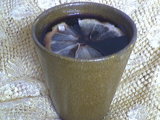 Image : Verre de vin chaud aux pices