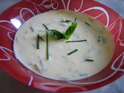 fines herbes : Sauce au fromage blanc aux fines herbes
