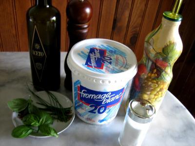 Ingrédients pour la recette : Sauce au fromage blanc aux fines herbes