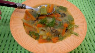 Cuisine diététique : Assiette de carottes au ris de veau