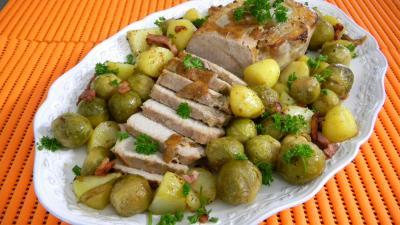Image : Plat de rôti d veau à la flamande