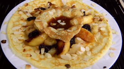 Image : recette Crêpes aux fruits frais