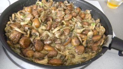 Crêpes aux ris de veau, châtaignes et champignons - 8.1