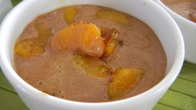 Recette Bol de clémentines caramélisées au marscarpone et au cacao