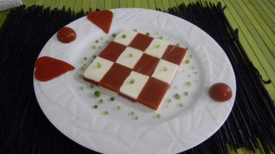 Amuse-bouche moléculaire à la tomate et mozzarella - 18.1
