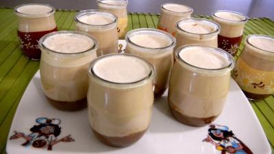 carambar : Pots de yaourts aux carambars et au caramel