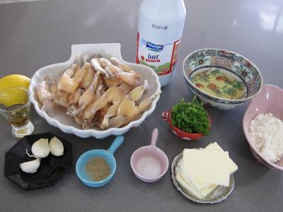Ingrédients pour la recette : Cuisses de grenouilles aux fines herbes