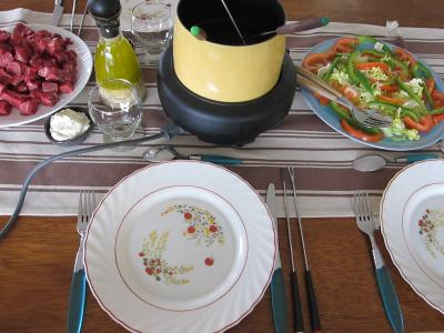 salade : Prparation de la table pour les invits