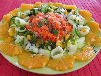 crudités : Salade d'orange à l'eau de fleur d'oranger