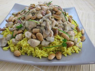 Image : Assiette de risotto à la saumonette et encornet