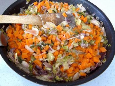 Recette Cabillaud aux cacahuètes et aux légumes