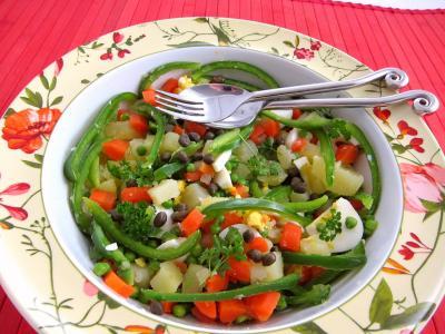 Image : saladier de salade et sauce au parfum de Russie