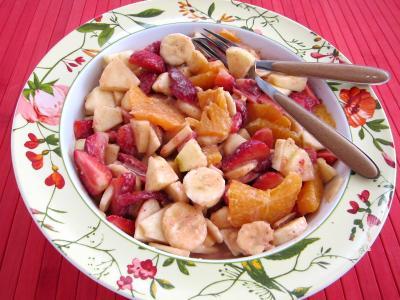 Recette Blinis aux fraises et aux fruits