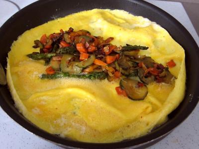 Recette Omelettes aux carottes et aux légumes