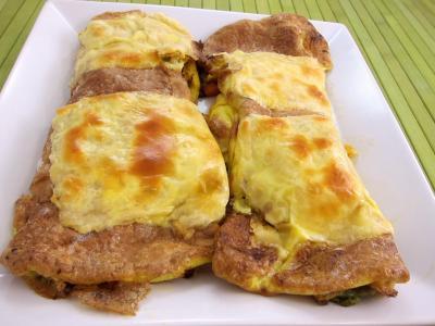 Cuisine diététique : Assiette d'omelette aux carottes et aux légumes