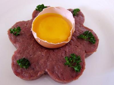 Recette Tartare de boeuf aux haricots plats