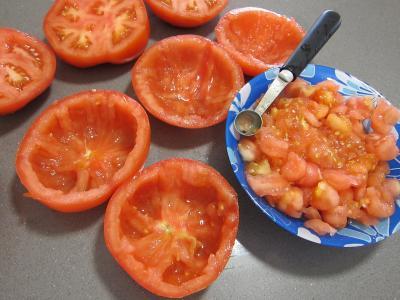 Tomates farcies chipolatas et merguez - 2.3