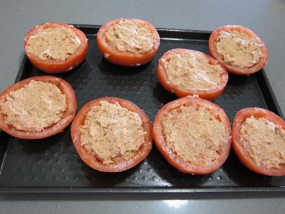 Tomates farcies chipolatas et merguez - 5.3