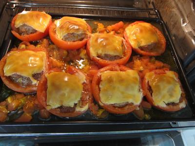 Tomates farcies chipolatas et merguez - 6.3