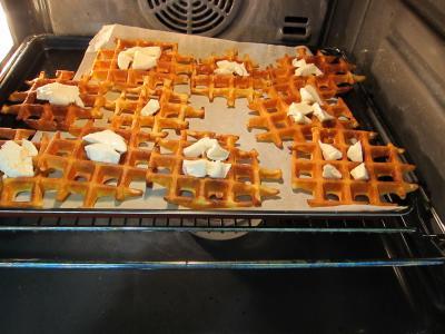 Mâche en velouté et sa gaufrette à la mozzarella - 9.2