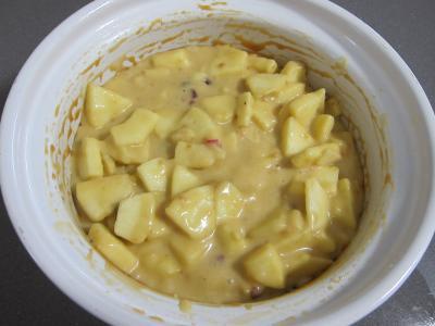 Pudding aux pommes et son coulis de framboises - 5.2