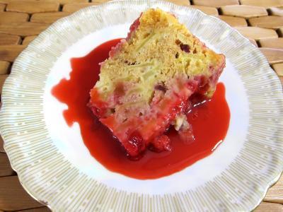 Recette Pudding aux pommes et son coulis de framboises
