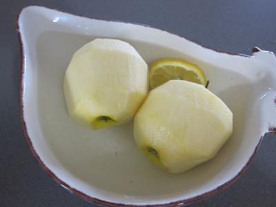 Coquelets au miel et aux pommes caramélisées et aux asperges - 2.3