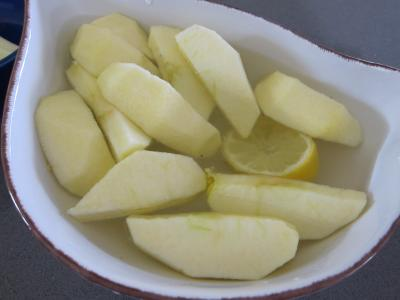 Coquelets au miel et aux pommes caramélisées et aux asperges - 3.1