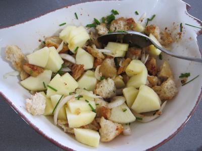 Coquelets au miel et aux pommes caramélisées et aux asperges - 6.3
