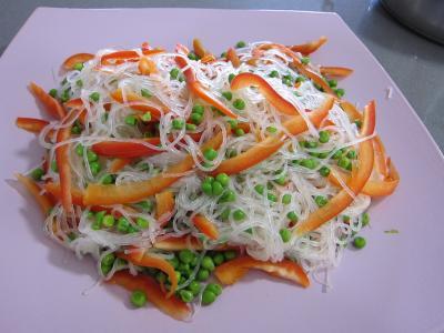 Vermicelle de riz et crevettes en salade - 6.2