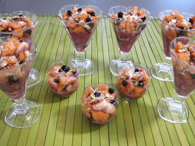 Mûres et melon en salade au sirop de noix de coco - 5.3