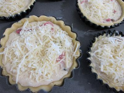 Tartelettes au brie et au jambon - 7.3
