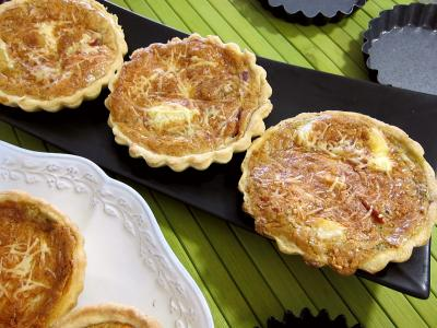 Recette Tartelettes au brie et au jambon