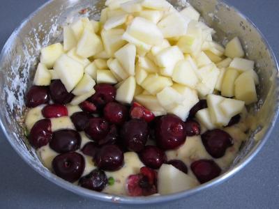 Pudding aux cerises et aux pommes - 4.4