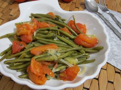 Cuisine du Portugal : Saladier de haricots verts à la portugaise