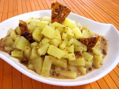 Recette Plat de patates douces au citron vert