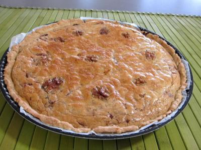 Cuisine diététique : Tarte aux oignons et aux noix