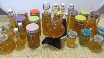 Recette Les différents bocaux pour la liqueur de mirabelles au gin