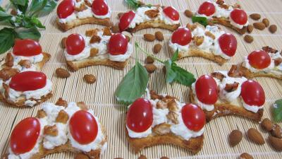 Blanc de poulet : Croissants aux amandes à la ricotta