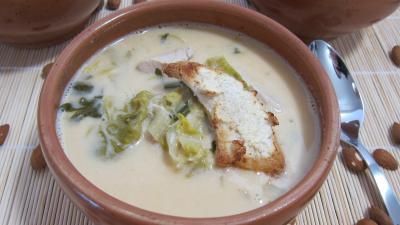 Soupe de poulet au lait d'amandes et de noix de coco - 8.2