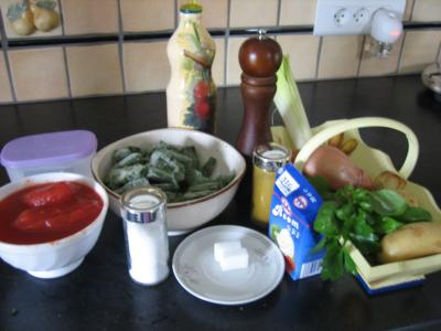 Ingrédients pour la recette : Crème d'épinards