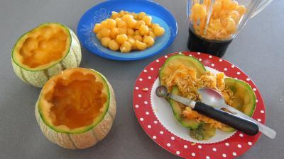 Gaspacho de melon au lait d'amandes et gambas - 1.3