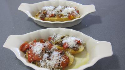 Crostinis d'aubergines et son concassé de boeuf façon Italienne - 11.1