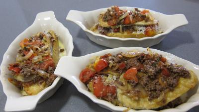Crostinis d'aubergines et son concassé de boeuf façon Italienne - 11.3