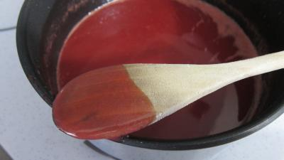 Gâteau de semoule au coulis de framboises - 6.4